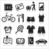 Travel icons set. Stock Image