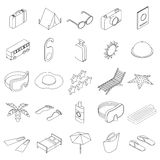 Travel icons set, isometric 3d style Stock Images