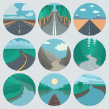 Travel Icons Set: Landscapes Royalty Free Stock Image