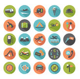 Travel icons. Royalty Free Stock Photos