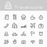 Travel icons set Stock Photo