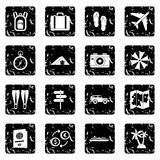 Travel icons set, simple style Royalty Free Stock Image