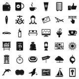 Travel icons set, simple style royalty free illustration