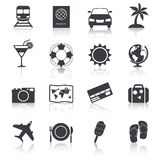Travel Icons Set Stock Photos