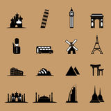 Travel icons set Royalty Free Stock Photography