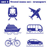 Travel icons set  - transport Stock Photography