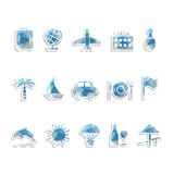 Travel icons Stock Images