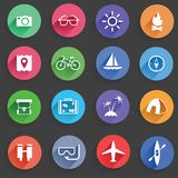 Travel Icons Royalty Free Stock Photo