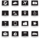 Travel icons set, vector Stock Photos