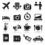 Travel icons set. Stock Photos