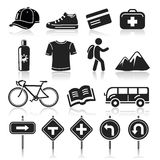 Travel icons set. Stock Photos