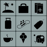 Travel icons set . Vector. Illustration Stock Photography