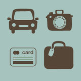 Travel icons set Vector illustration Royalty Free Stock Image