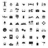 Travel icons set Stock Images