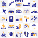 Travel icons set Royalty Free Stock Photos