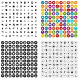 100 travel icons set vector variant. 100 travel icons set vector in 4 variant for any web design isolated on white Stock Image