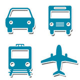 Travel Icons Stickers royalty free illustration