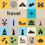 Travel icons twenty vector illustration