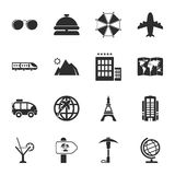 Travel 16 icons universal set for web and mobile Royalty Free Stock Photography