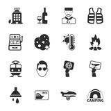 Travel 16 icons universal set for web and mobile Stock Photography