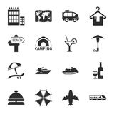 Travel 16 icons universal set for web and mobile Stock Images