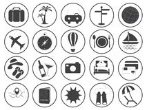 Travel Icons Vector Collection Royalty Free Stock Photo