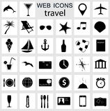 Travel icons vector illustration Stock Images
