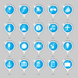 Travel icons vector illustration Royalty Free Stock Images