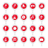 Travel icons vector illustration Stock Photography