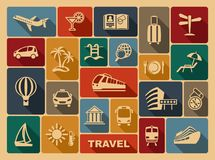 Travel icons. Vector illustration Royalty Free Stock Photography