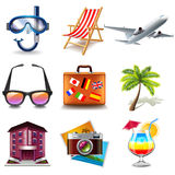 Travel icons vector set Royalty Free Stock Image