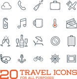 Travel Icons Vector Set. Great for All Purposes like Print Web or Mobile Apps Royalty Free Stock Photos