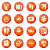 Travel icons vector set Royalty Free Stock Photos