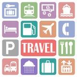 Travel icons Royalty Free Stock Image