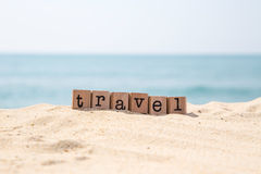 Travel idea for beach Royalty Free Stock Image