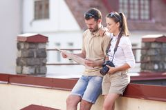 Travel Ideas and Concepts. Young Caucasian Couple Travelling Stock Images