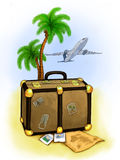 Travel illustration Stock Image