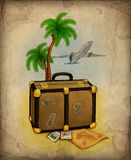 Travel illustration Stock Images