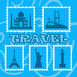 Travel illustration Royalty Free Stock Photography