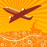 Travel illustration Royalty Free Stock Photo