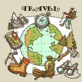 Travel illustration Royalty Free Stock Photography