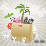 Travel illustration Stock Photos