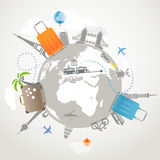 Travel illustration Royalty Free Stock Image