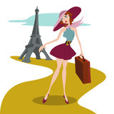 Travel illustration vector Stock Photos