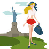 Travel illustration vector stock illustration