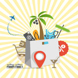 Travel illustration Royalty Free Stock Images