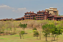 Travel image of resort structure in Costa Rica. Royalty Free Stock Images