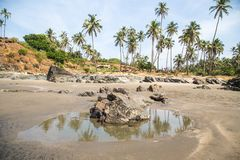 Travel in India. Beautiful scene in Goa, India Stock Photography