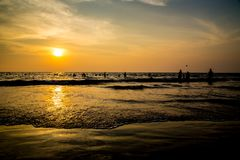 Travel in India. Beautiful scene in Goa, India Royalty Free Stock Image