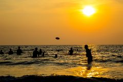 Travel in India. Beautiful scene in Goa, India Royalty Free Stock Images